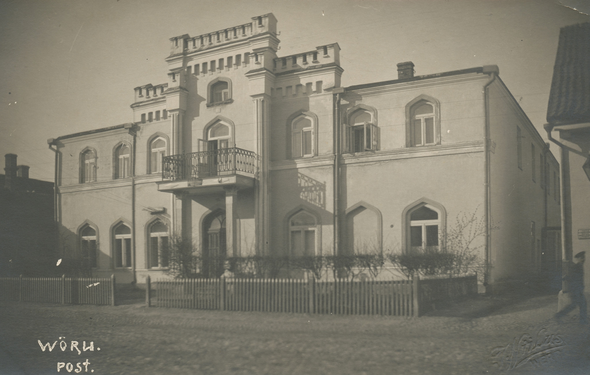 In 1912 it was built to two-storey house